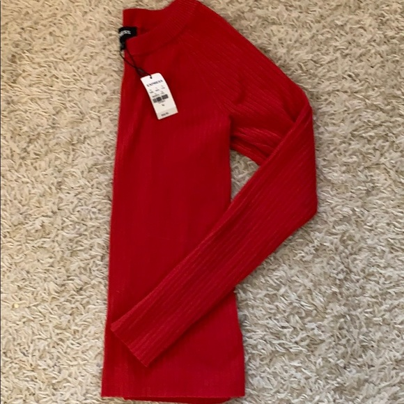 Express Sweaters - Express red ribbed sweater